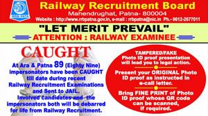 Home Page - Railway Recruitment Board, Patna